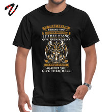 stand behind you Normal Thanksgiving Day Sans O Neck Men T Shirt Printed Tops Tees 2019 Popular Riverdale Sleeve