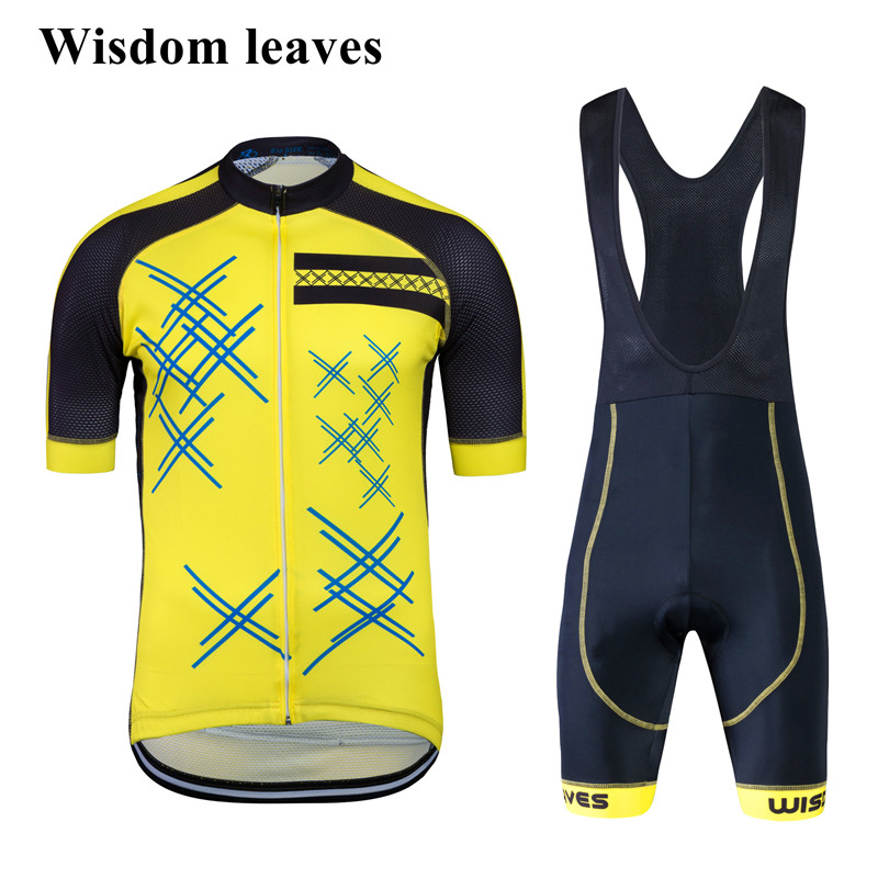 Wisdom Leaves 2017 Designer Brand pro team cycling clothing sets bike cycling jersey set ciclismo equipos