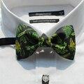 Frete Grátis novo 2017 dos homens casual masculino homem Moda Artesanal madeira verde PARTIDO presente de casamento bow tie partido Europa Ocidental feminino