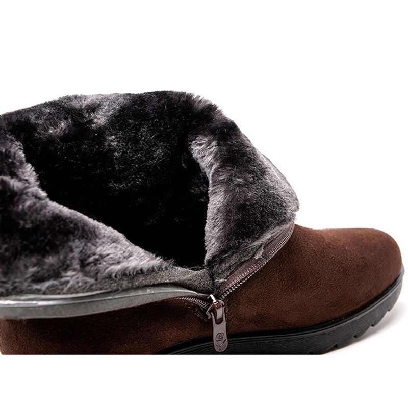 Giày Bốt Nữ Mùa Đông Giày Nữ Ủng Lông Ấm Áp Nêm Nữ Mắt Cá Chân Giày Bốt Thời Trang Nữ Mùa Đông Giày Nữ Giày Nữ Bota phụ Nữ