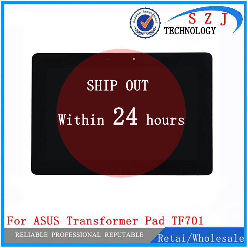 NEW 10.1'' inch  for ASUS TF701 TF701t LCD Display + Touch Screen Digitizer Panel Full Assembly with LOGO Free shipping black full lcd display touch screen digitizer replacement for asus transformer book t100h free shipping