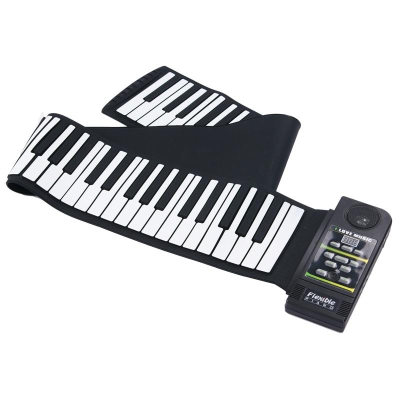 88 клавиш Roll Up фортепиано Midi Out музыка запись ног педали для автомобиля Гибкая клавиатура