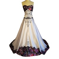muddy girl camo wedding dress 2019 camouflage bridal gowns with veil vestido de noiva custom make size free shipping