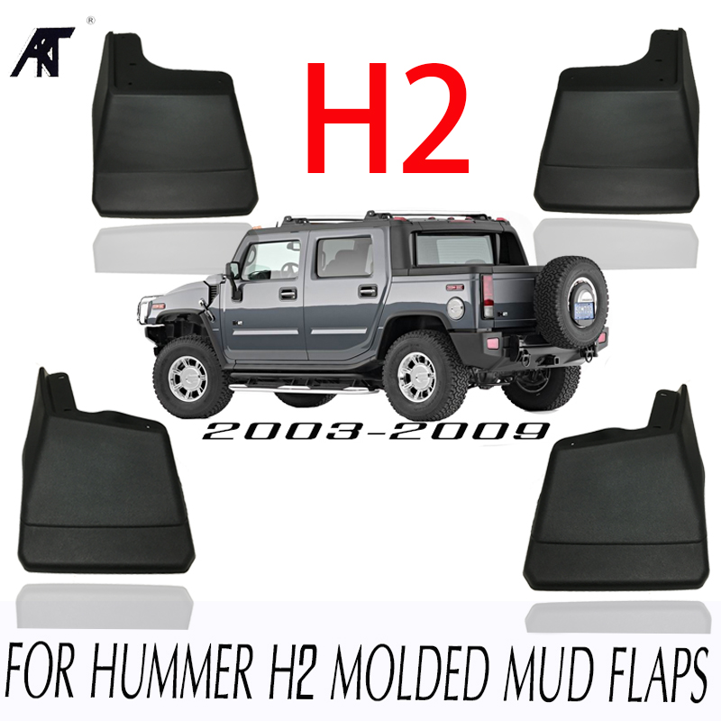 MUD FLAP FIT FOR HUMMER H2 MOLDED MUDFLAPS 2003-2009 SPLASH GUARD MUDGUARDS FRONT REAR FENDER ACCESSORIES