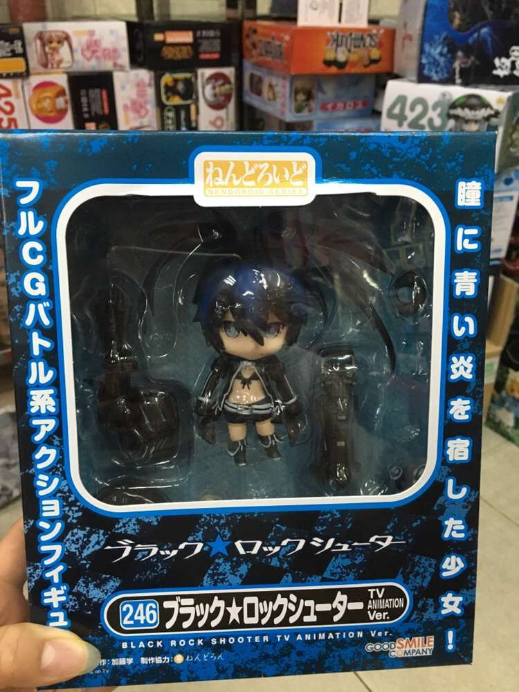 """Image 5 - Cute 4"""" 10cm Nendoroid Black Rock Shooter #246 TV Animation Ver. PVC Action Figure Model Collection Toy KT1989-in Action & Toy Figures from Toys & Hobbies"""