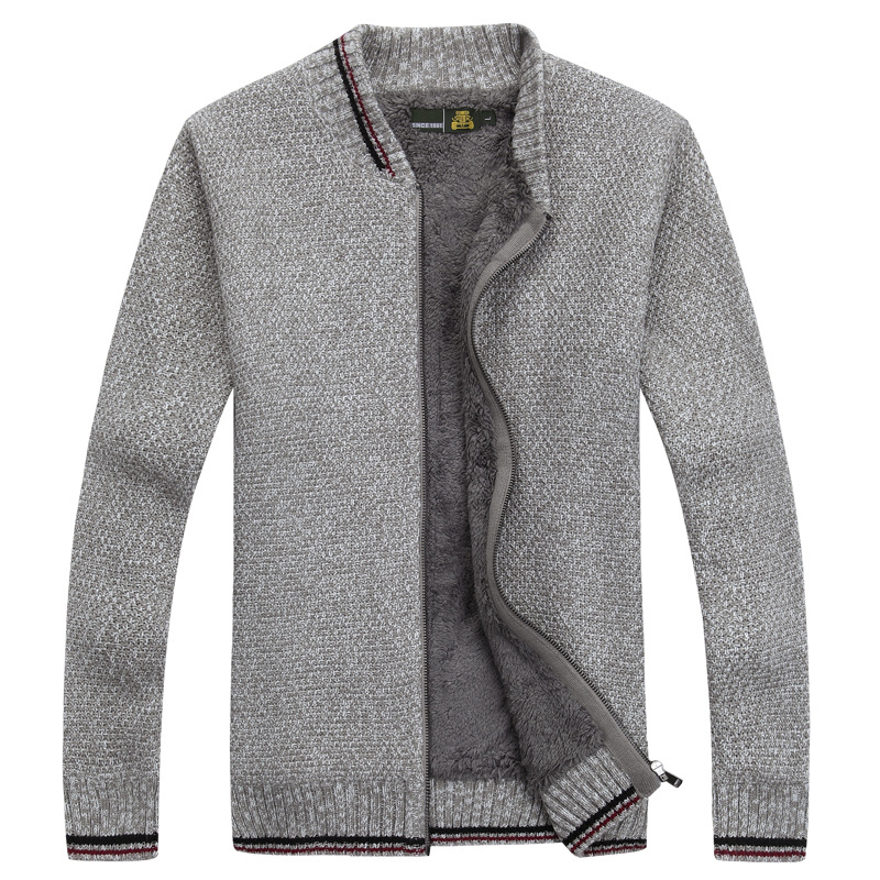 Men's Cardigans Winter Men Sweaters With Brushed Men's XXXL Thick Sweater Male Knit Coat Tops Warm Long Sleeve Casual Waistcoat