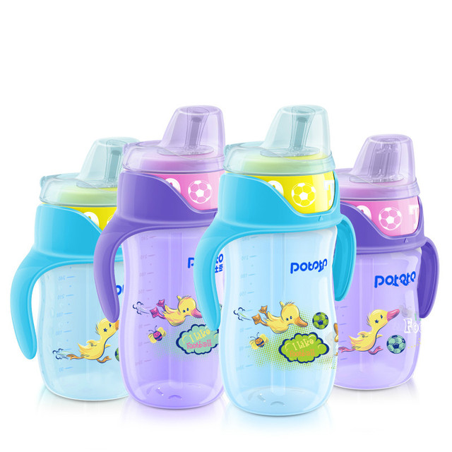 Hot Selling Baby Straw Cup ChildrenTraining Bottle Leakproof Sippy Cups Infants Learn Drinking Cup With Handles