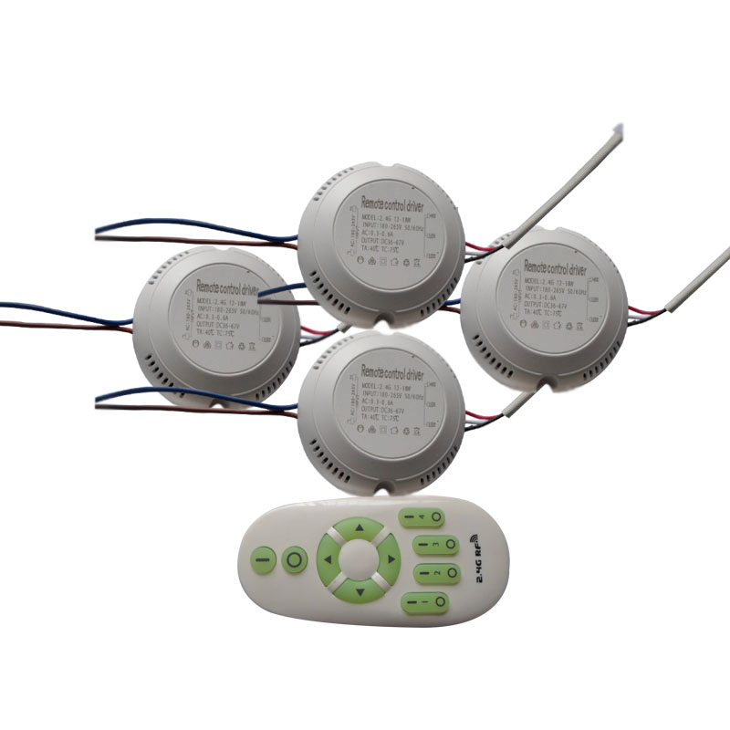 1X Round type constant current wireless CCT driver 12-18W with 2.4G remote controller 95-265V input free shipping kvp 24200 td 24v 200w triac dimmable constant voltage led driver ac90 130v ac170 265v input