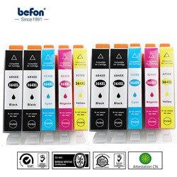 Befon Chiped X10 364XL wymiany pojemnika z tuszem do HP364 HP 364 DeskJet 3070A 3520 Photosmart 5510 5520 6510 6520 7510 drukarki