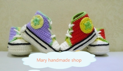Free shipping Handmade crochet baby bootees Baby Toddler shoes color simulation shoes knitted Double thick sole