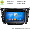 5.1.1 Quad Core HD 1024*600 Android Car DVD GPS Navigation Player Para Hyundai I30 2011-2015 Rádio Volante de Controle Remoto
