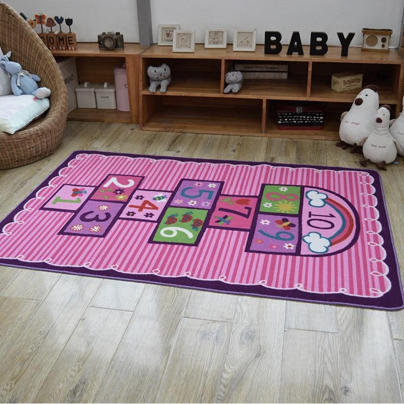 hot sale 100 nylon kids rug pink carpet for living room bedroom study room floor mat soft rug. Black Bedroom Furniture Sets. Home Design Ideas
