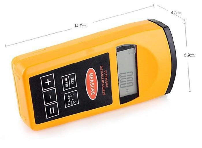 Laser Entfernungsmesser Ultraschall : Tragbare lcd hintergrundbeleuchtung ultraschall entfernungsmesser