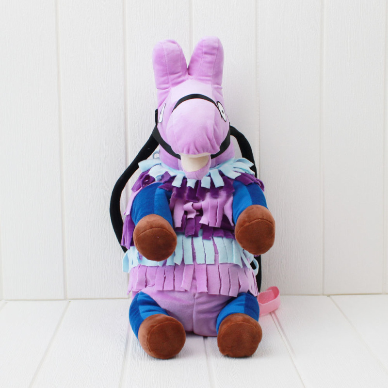Battle Royale Stash Llamas Alpaca Cosplay Backpack Rainbow Horse School Bag Plush Toys Children Halloween Gifts (3)