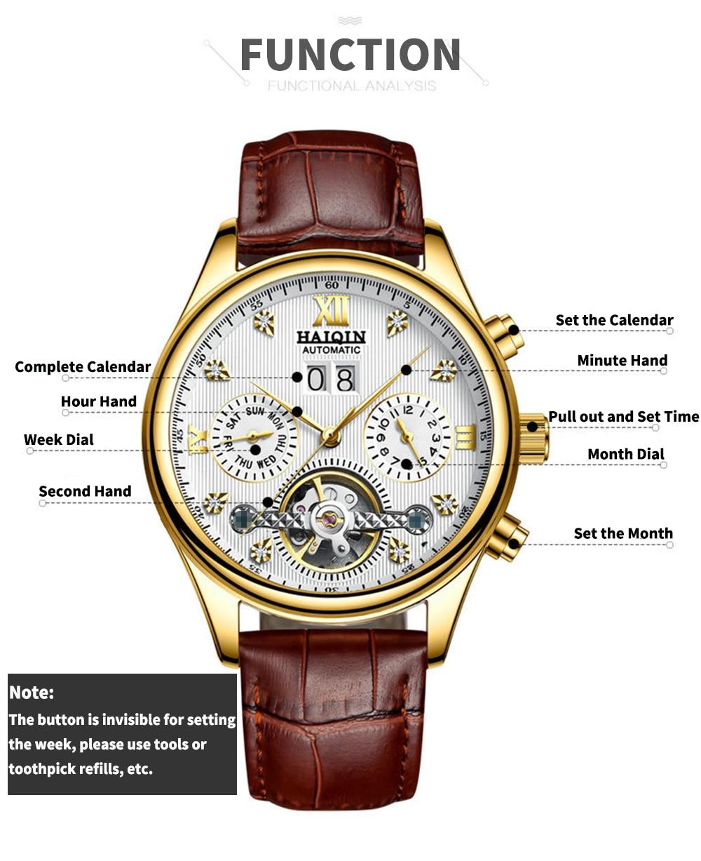HTB118NlXUrrK1RkSne1q6ArVVXac HAIQIN Men's watches Automatic mechanical Men Watches Business Watch men top brand luxury Military Waterproof Tourbillon Clock