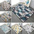 Простые геометрические прямоугольные ковры для гостиной  диван  Противоскользящий коврик  мягкие детские игровые маты для палатки  спальни...