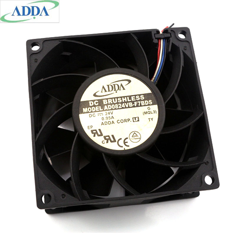 Brand New ADDA AD0824VB-F7BDS 8038 80*80*38mm 24V 0.95A dual ball four wire cooling fan 6200RPM 97CFM флюид kapous professional fluid with biotin against split ends of hair