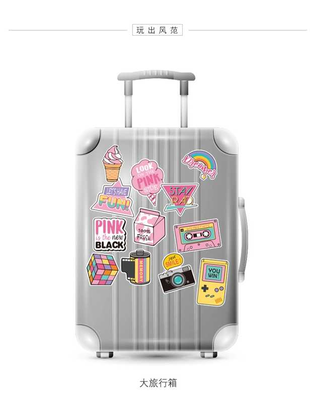 Stickers Kids Toys Laptop Christmas Sticker Toys for Children Skateboard Luggage Graffiti Waterproof Stickers Pack 101pcs/Lot