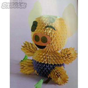 Image 5 - סיני מהדורה יפני נייר מלאכת דפוס ספר 3D נייר מתקפל בעלי החיים בובת פרח