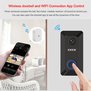 Image 3 - EKEN Smart Wireless Wifi Video Doorbell Intercom Phone Call Door Bell Camera Infrared Remote Record Home Security Monitoring