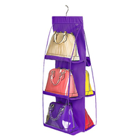6 Pocket PVC Storage Bag Organizador Hanging Bags Closet Organizer Wardrobe Rack Hangers Holder For Fashion