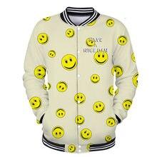 Hombre 3D tiene un día agradable Harajuku chaquetas Sudadera con capucha  hombre mujer Bangtan Boys Streetwear amarillo sonrisa c. 9d5d5d43276