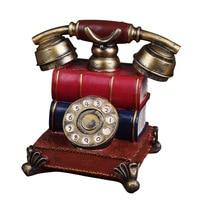 Retro phone European style retro resin handicrafts piggy nostalgia creative antique telephone Home Furnishing gift home decor
