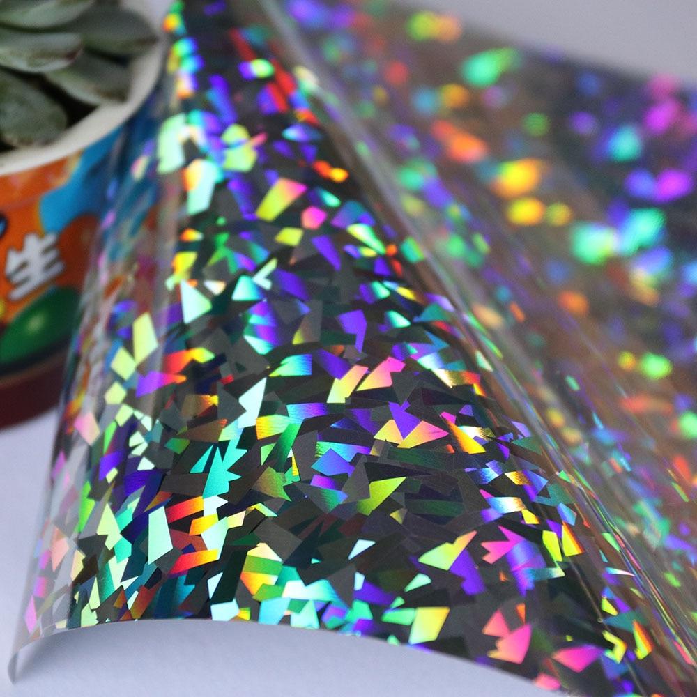 crystal silver holographic glitter vinyl heat transfer