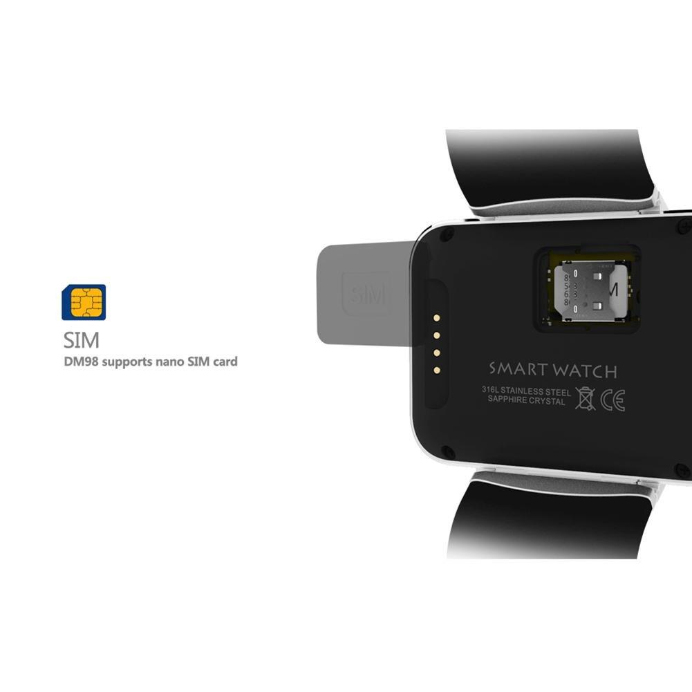 Смарт часы 2,2 дюймов Android OS 3g Smartwatch MTK6572 двухъядерный 1,2 ГГц 512 Мб ОЗУ 4 Гб ПЗУ камера WCDMA gps R20 - 4