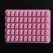 عملي لطيف غائر الدب 50 تجويف صينية من السيليكون جعل الشوكولاته الحلوى الجليد هلام قالب DIY بها بنفسك أدوات كعكة الأطفال بالجملة D0026 1