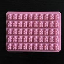 Práctica Cute Gummy Bear 50 cavidad bandeja de silicona hacer Chocolate caramelo molde de gelatina de hielo DIY niños torta herramientas al por mayor D0026 1