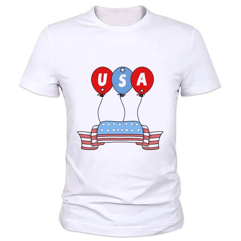 Día de la independencia marca hombre t-shirt rayas bandera americana de  manga corta Camiseta suave muchacho 47M-23   aba26aa94a20d