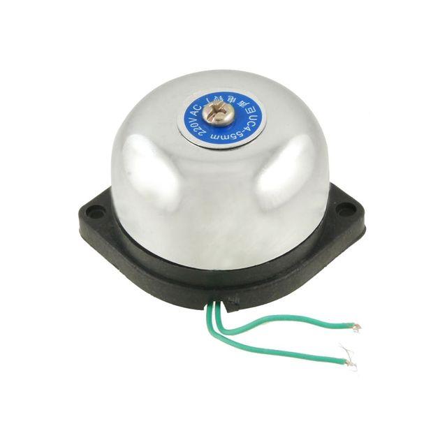 MOOL 55 مللي متر قطرها جهاز إنذار حرائق الكهربائية غونغ بيل التيار المتناوب 220 فولت