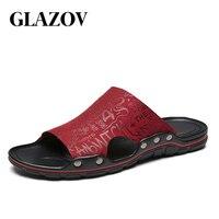 2019 New Arrival Fashion Summer Men Flip Flops Sandals Men Leather Shoes Casual Sandalias Men Beach Shoes Design Men's Sandals