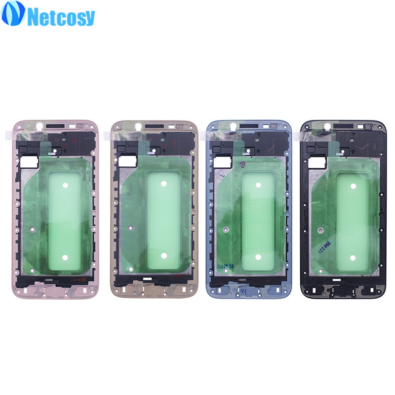 Netcosy LCD Housing Middle Frame Faceplate Frame Bezel Replacement part For Samsung Galaxy J7 2017 J730 & Screwdriver