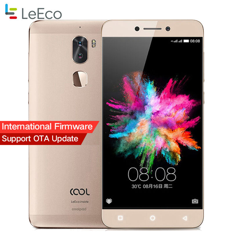 Original Letv Cool 1 Dual Leeco Coolpad Cool1 Snapdragon 652 teléfono móvil 3 GB RAM 32 GB 5,5 FHD 13MP cámaras digitales ID de huella digital