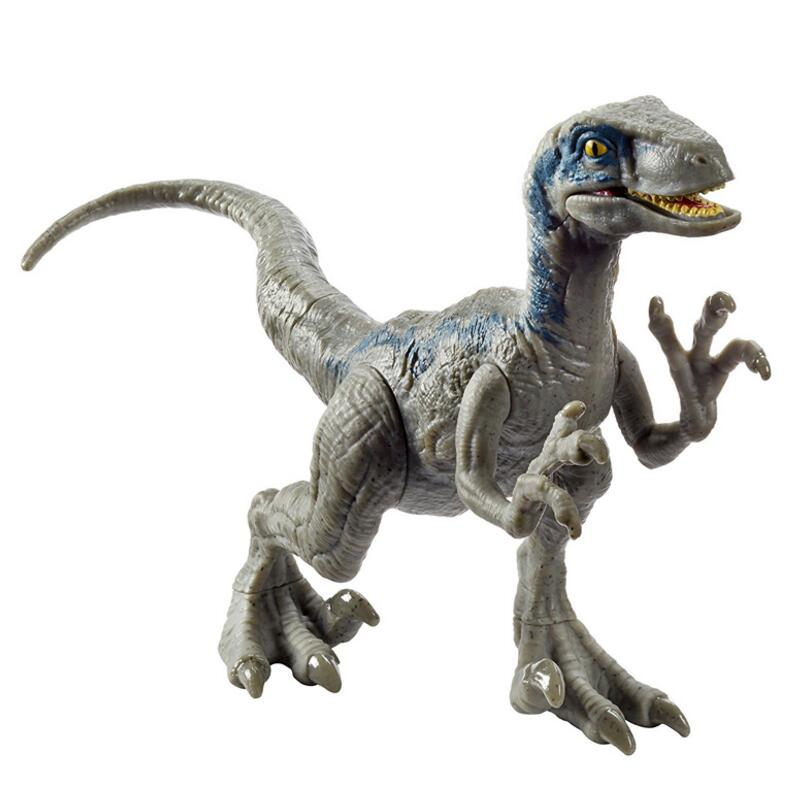 Raptor velociraptor blue dinosaur model classic toys for boys children mouth can open and close - Raptor dinosaure ...