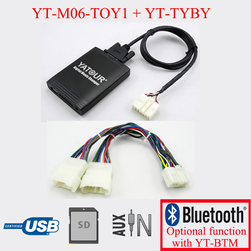 Yatour USB SD AUX IN Kit for Toyota Lexus radio 5+7PIN with Navigation system image