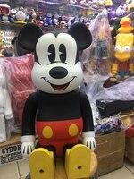 Новый стиль Мышь 70 см Bearbrick 1000% быть @ rbrick Cos Мышь кукла ПВХ ACGN Рисунок игрушка Brinquedos аниме модные подарки