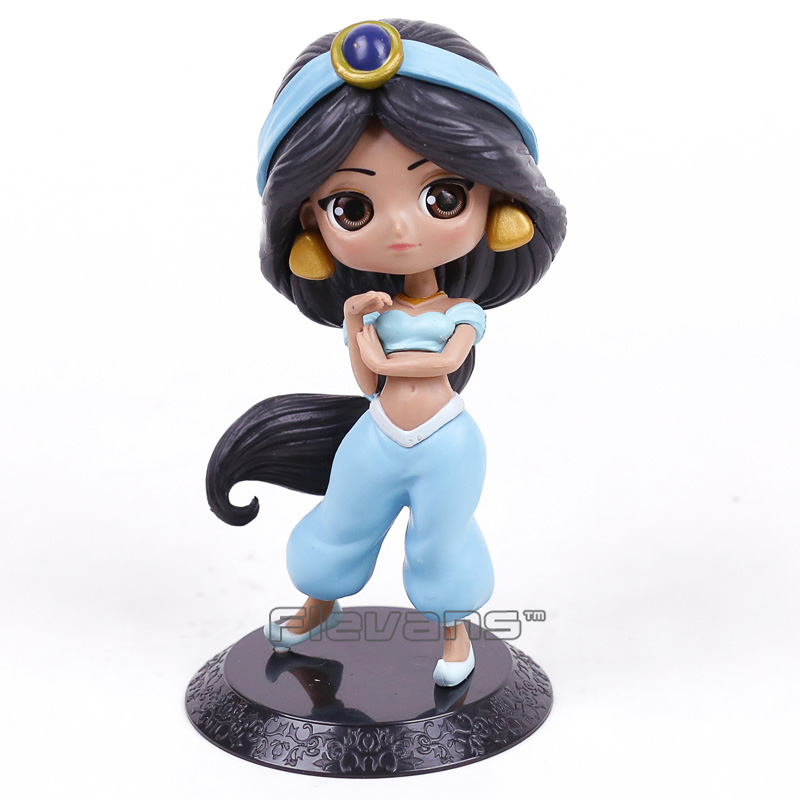 Q Posket Characters Aladdin Princess Jasmine PVC Figure Model Toy Princess Doll Gift for Girl 14.5cm q posket beauty and the beast belle pvc figure model toy princess doll gift for girls 13cm