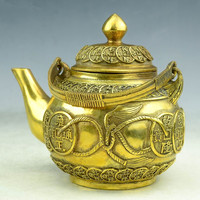 Collection brass money jug gold rope winding pot furniture craft decorations