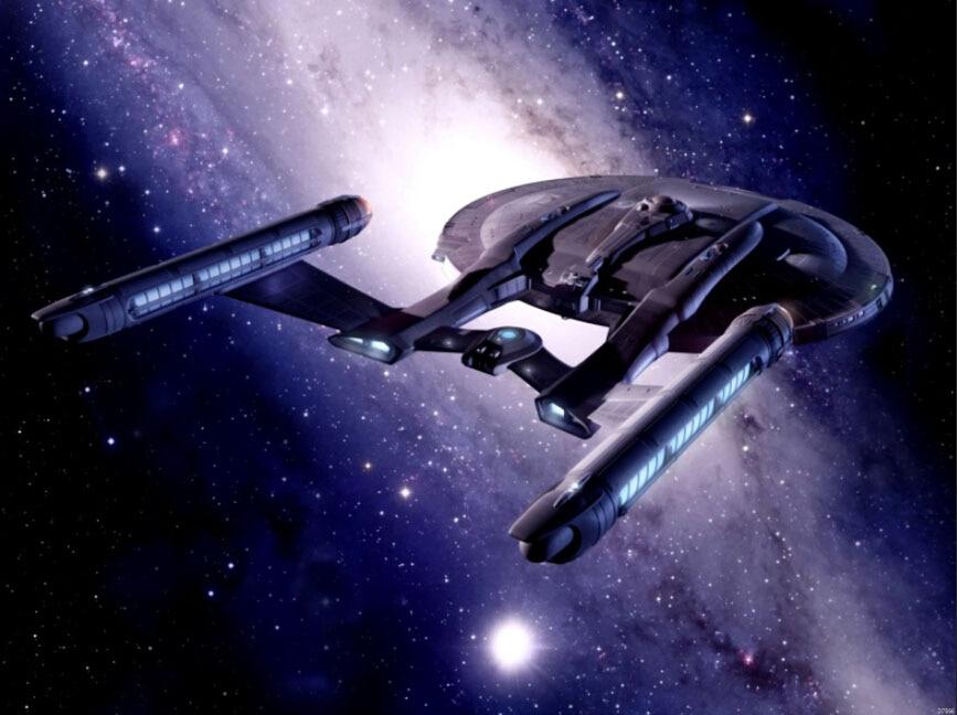 Enterprise Star Trek Starship Sci Fi Art Gigantic Print