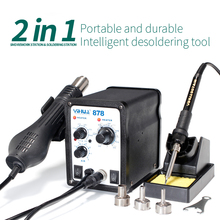 YIHUA 878 Lead Free Hot Air Soldering Station Repairing Mobile Phone Weldeing Soldering Iron Station Welding Tool(China (Mainland))
