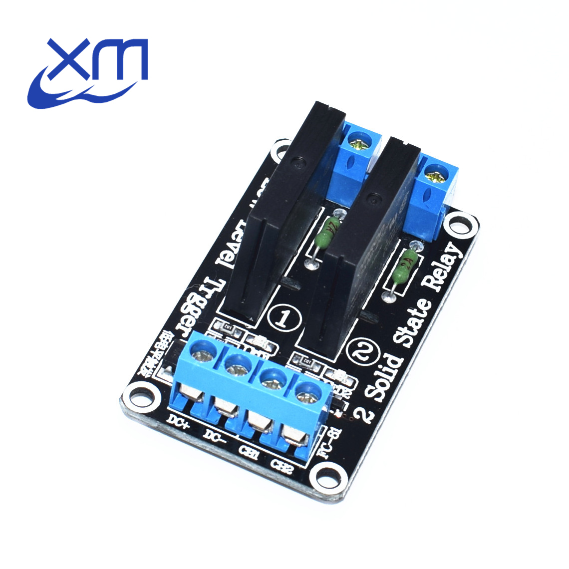5V 2 Channel OMRON SSR low Level Solid State Relay Module 240V 2A H53(China)