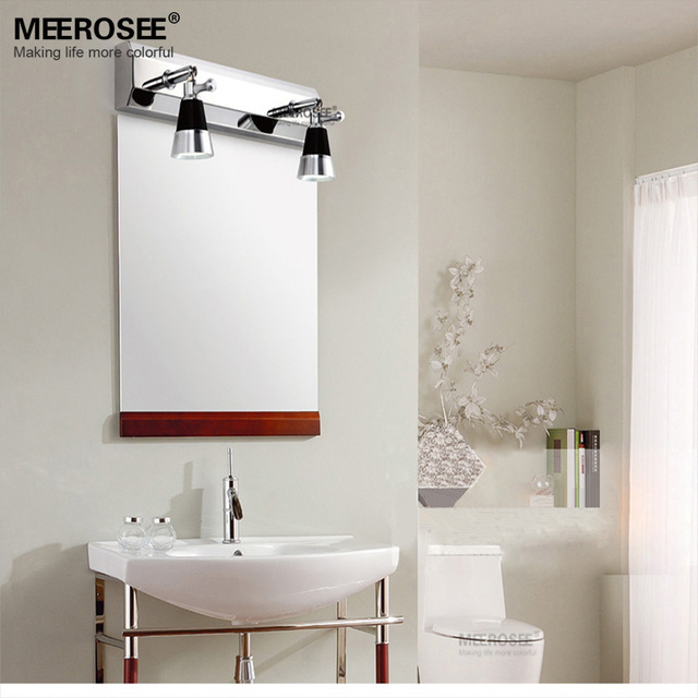 Mordern led bathroom wall lighting fixture led mirror lamp chrome mordern led bathroom wall lighting fixture led mirror lamp chrome metal wall sconces for restroom bedroom aloadofball Images