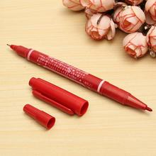 1pcs Tattoo Skin Marker Pen Double Head Acupuncture Point Marking Red Painting Pencile Supply Surgical Tattooing Accesories