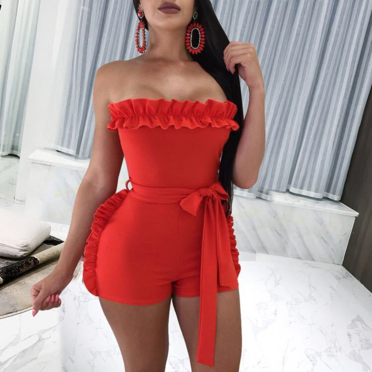 New Design Lovely Cute Women Fashion Women Rompers Short   Jumpsuits