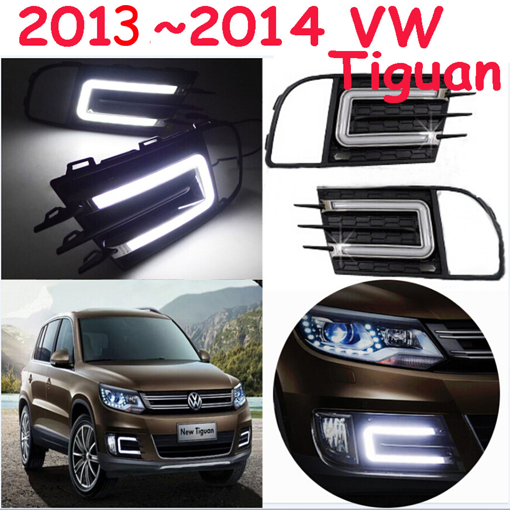 Tiguan Daytime light;2013~2015, Free ship!LED,passat,magotan,b7,b6, Tiguan fog light,2ps/set;Tiguan,Touareg tiguan taillight 2017 2018year led free ship ouareg sharan golf7 routan saveiro polo passat magotan jetta vento tiguan rear lamp