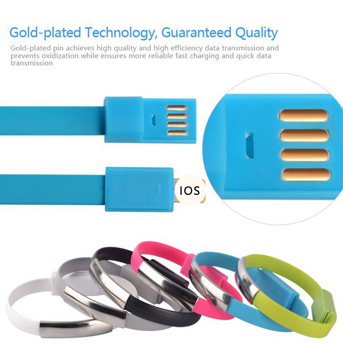 Iphone 6 Charger Bracelet Kabel Data Gelang Micro Usb V8 Cable Samsung Android New Wrist Sync Charging Wristband For Huawei Xiaomi 5