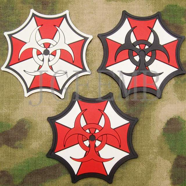 New Biohazard Resident Evil Umbrella Corporation Logo Pvc Patch